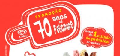 WWW.KIBON.COM.BR/70ANOS - PROMOÇÃO 70 ANOS DE FELICIDADE KIBON