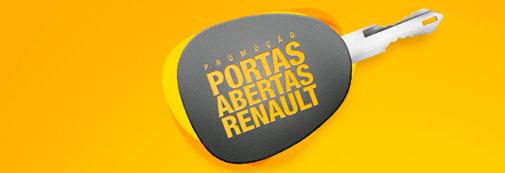 PROMOÇÃO PORTAS ABERTAS RENAULT - WWW.RENAULT.COM.BR/PORTASABERTAS