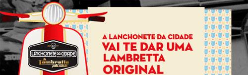 PROMOÇÃO DE LAMBRETA PELA CIDADE - WWW.LANCHONETEDACIDADE.COM.BR