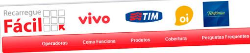 RECARGA FÁCIL - TIM, VIVO, OI, CLARO - WWW.RECARREGUEFACIL.COM.BR
