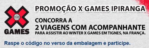 PROMOÇÃO IPIRANGA E VOCÊ NO X GAMES - WWW.IPIRANGA.COM.BR