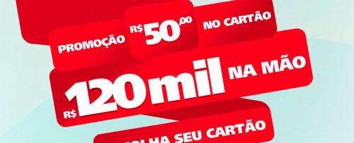 WWW.SANTANDER.COM.BR/50NOCARTAO120MILNAMAO - PROMOÇÃO R$50 NO CARTÃO, R$ 120 MIL NA MÃO