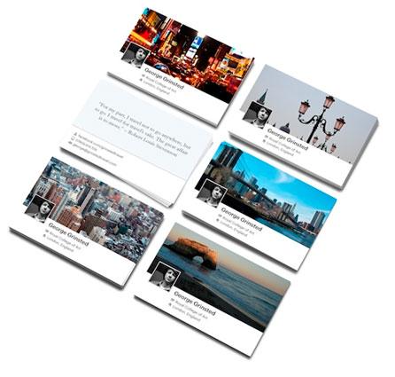 FACEBOOK CARDS - CARTÃO DE VISITA FACEBOOK GRÁTIS - WWW.MOO.COM
