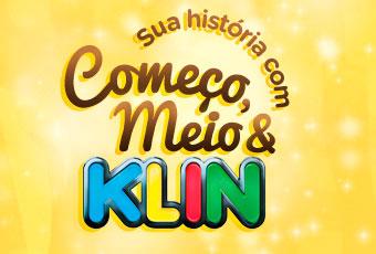 WWW.KLIN.COM.BR - PROMOÇÃO SUA HISTÓRIA COM COMEÇO, MEIO E KLIN