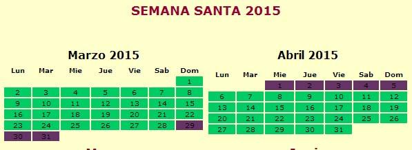 SEMANA SANTA 2015 - DATA, DIAS, CALENDÁRIO