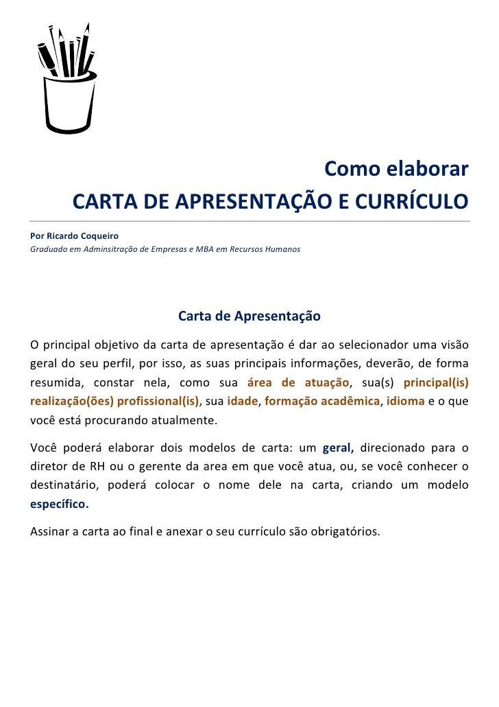 MODELOS DE CARTA DE APRESENTAÇÃO 2015, COMO FAZER