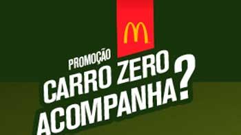 PROMOÇÃO CARRO ZERO ACOMPANHA? MC DONALDS 2015, CADASTRAR - WWW.CARROACOMPANHA.COM.BR